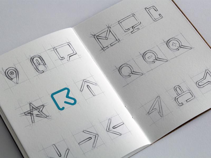 Risemetric Icons Sketch by Pratik Patil
