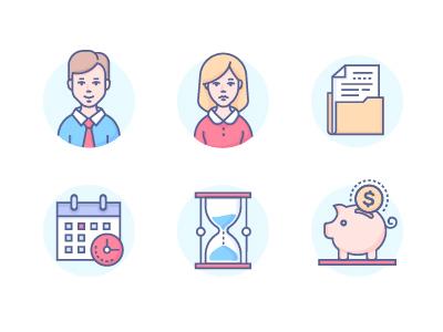 Business Icons by Ilya Boyko