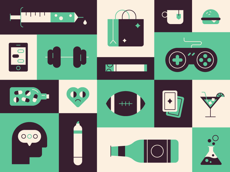 Addiction icons by Jordan Jenkins