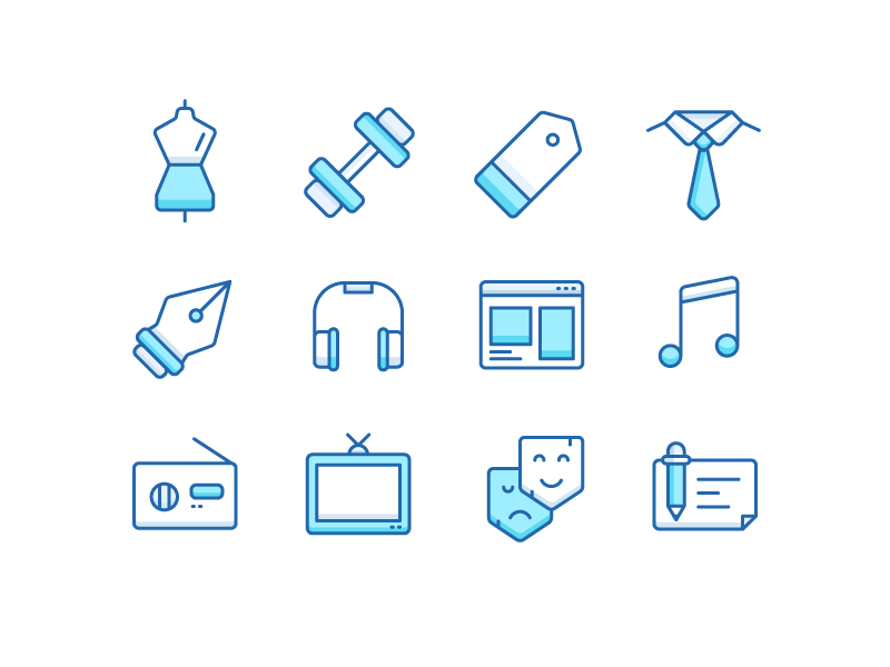 Catagory Icons by Parham Marandi