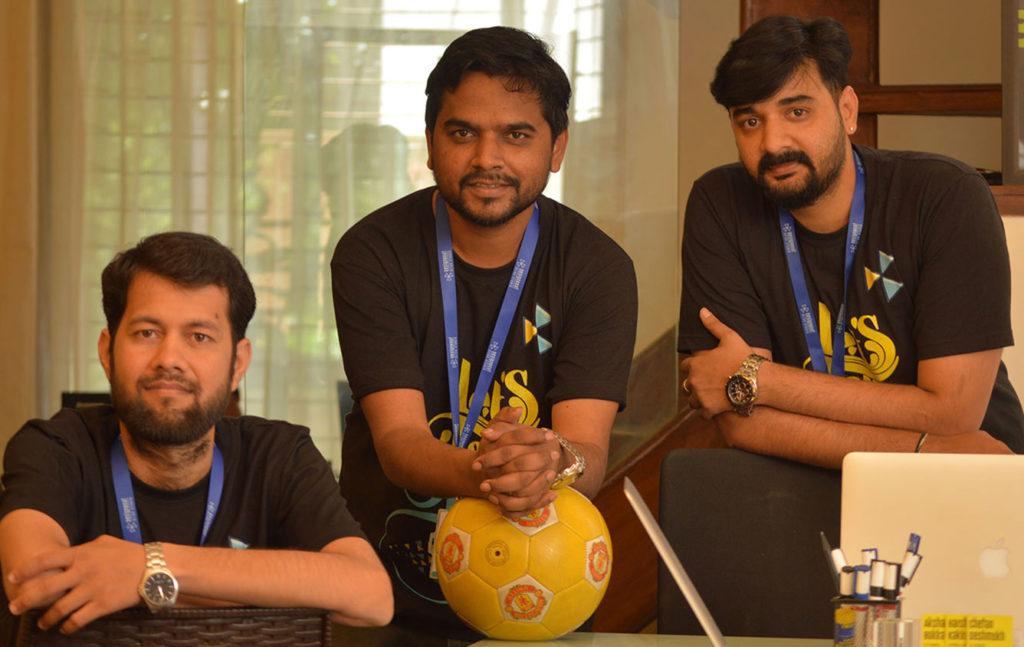 From left to right - Chetan, Harsha, Akshay