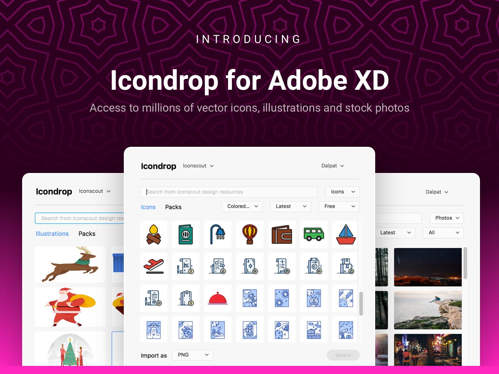 Icondrop for Adobe Xd