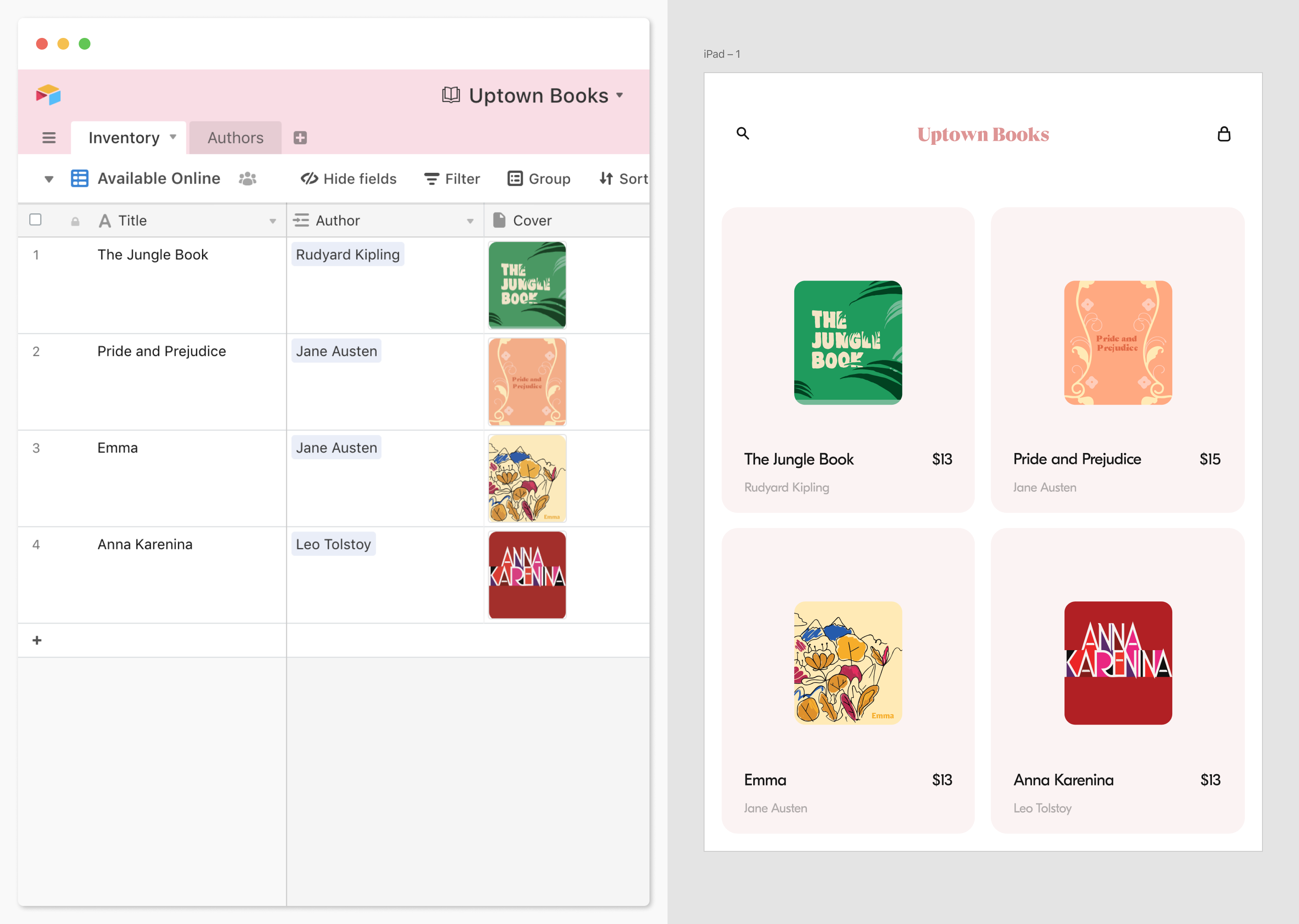 Airtable for Adobe XD