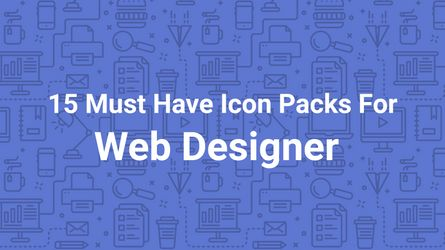 15 must have Icon packs if you are a Web Designer