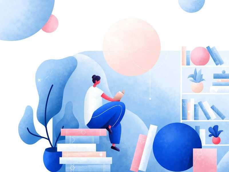book app illustration by Krestovskaya Anna