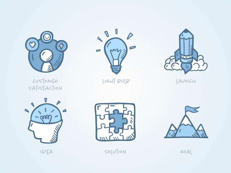 business icons by Agata Kuczminska