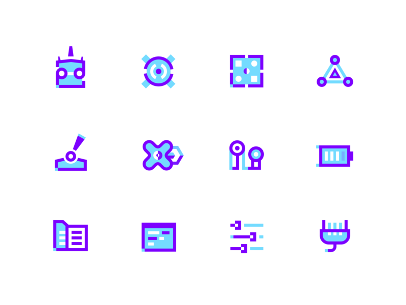 Drone icons by Vadim Gromov