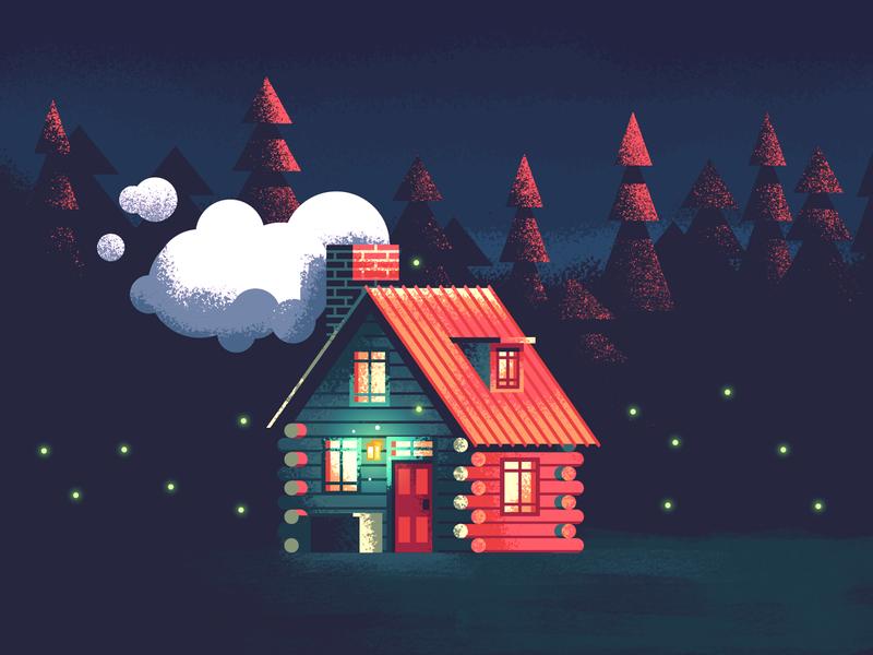 cabin home by Tatiana Bischak