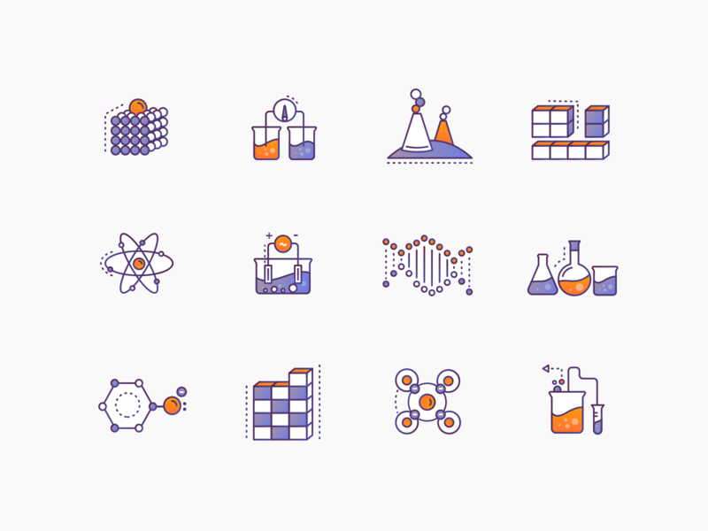 chemistry icons by Anuj Bhavsar for Brewex in Icons Design
