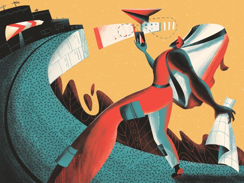 navigation_in_ui_illustration_tubik by tubik in Graphic Design