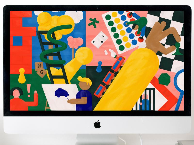Playing wallpaper by Julia Dufosse
