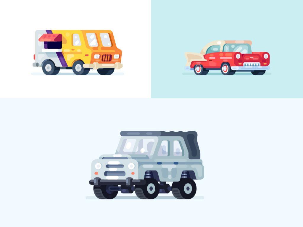 traffic fines illustration by Evgeniy Dolgov for Mail.Ru Design