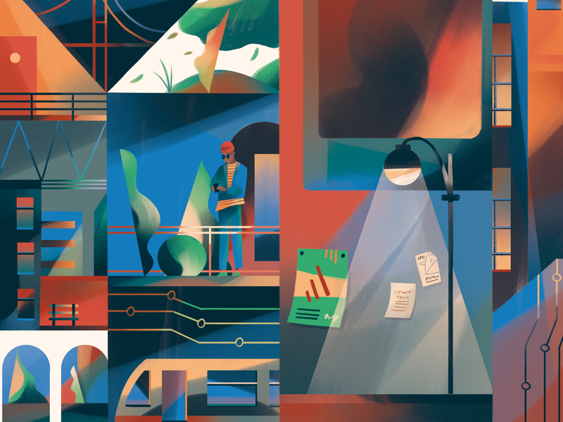 wifi city by Folio Illustration Agency