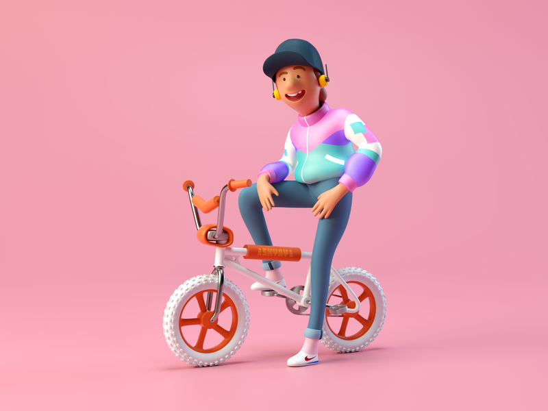 BMX Kid by kajdax in Iconscout's weekly design inspiration