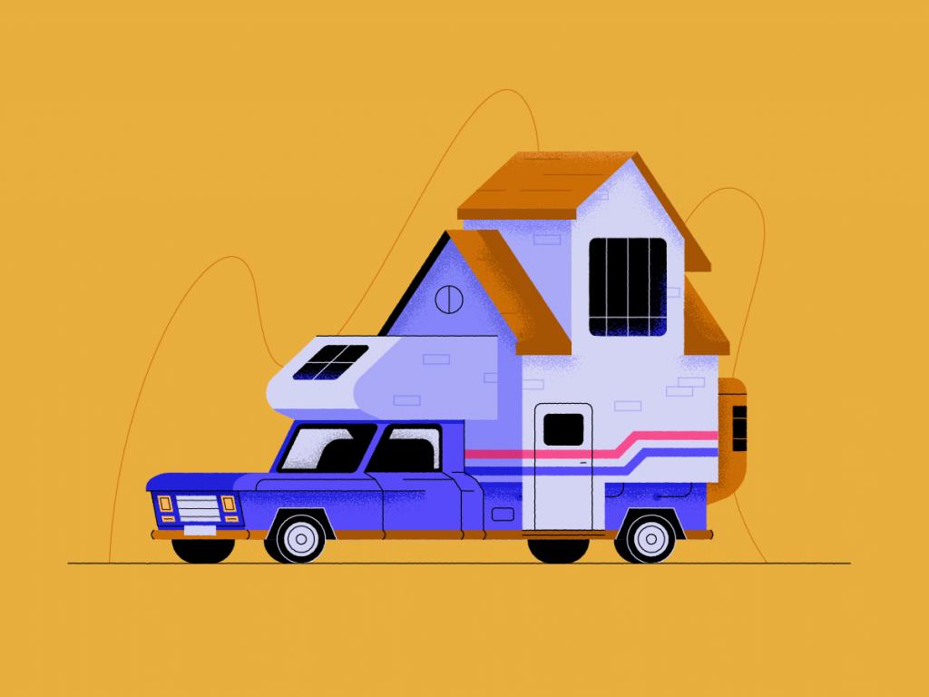 Caravan illustration by Fabrizio Morra