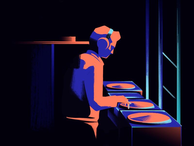 Dj by Chiara Vercesi in Light studies in Iconscout's Design Inspiration