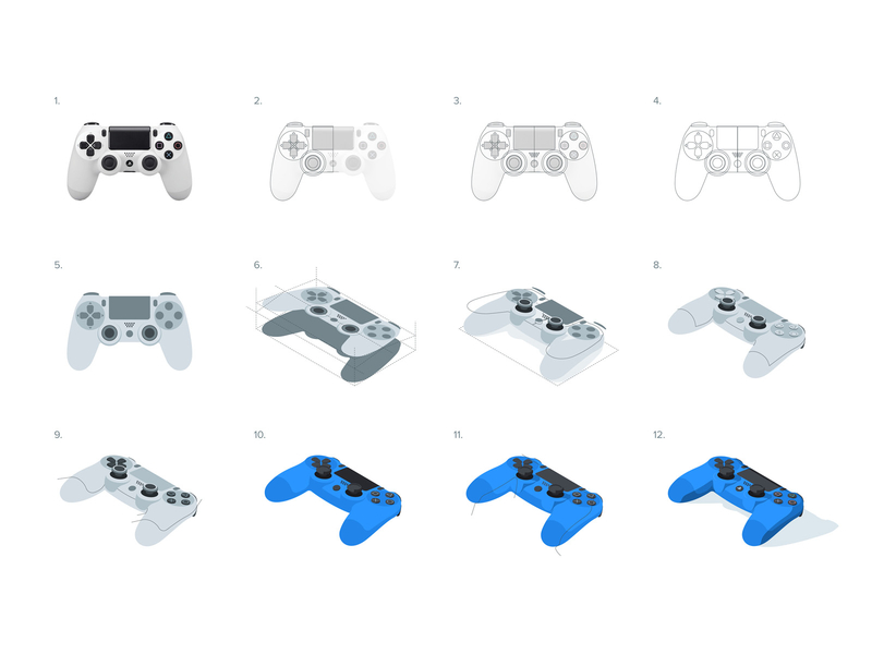 Dualshock process by Gustavo Zambelli in Iconscout's Design Inspiration