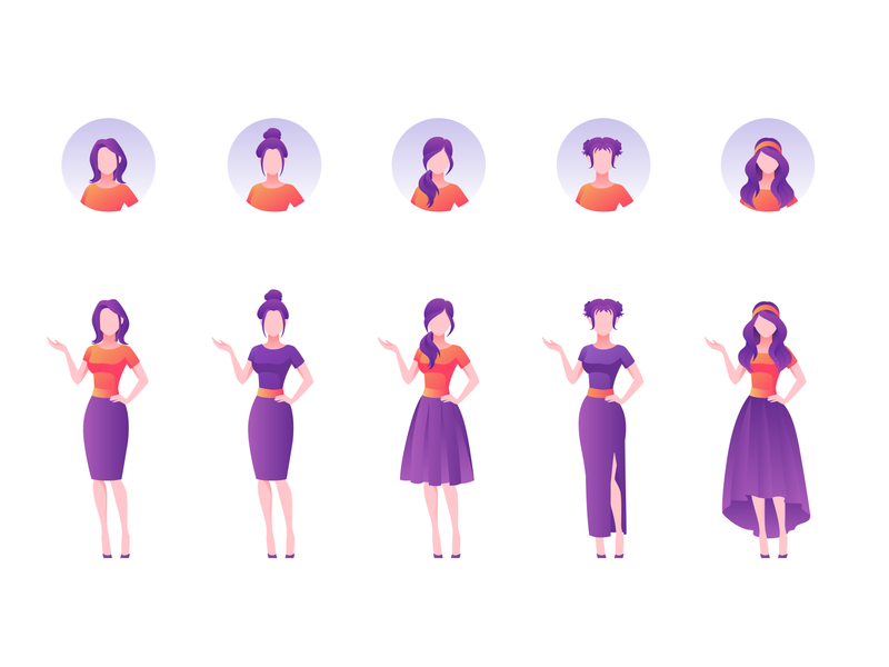 people in illustration icons in Iconscout's weekly design inspiration