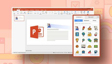 Create stunning PowerPoint presentation using Icondrop