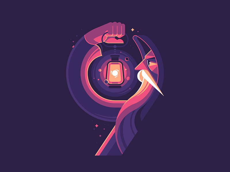 Solitary by Alexey Kuvaldin in Iconscout's Design Inspiration