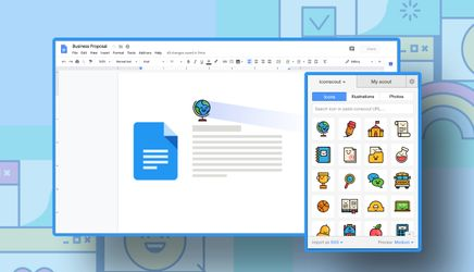 Create Attractive Google Docs Document Using Icondrop