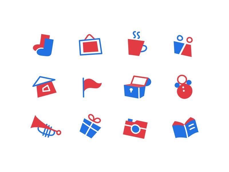 Flea market icons by Mary Kotyshova