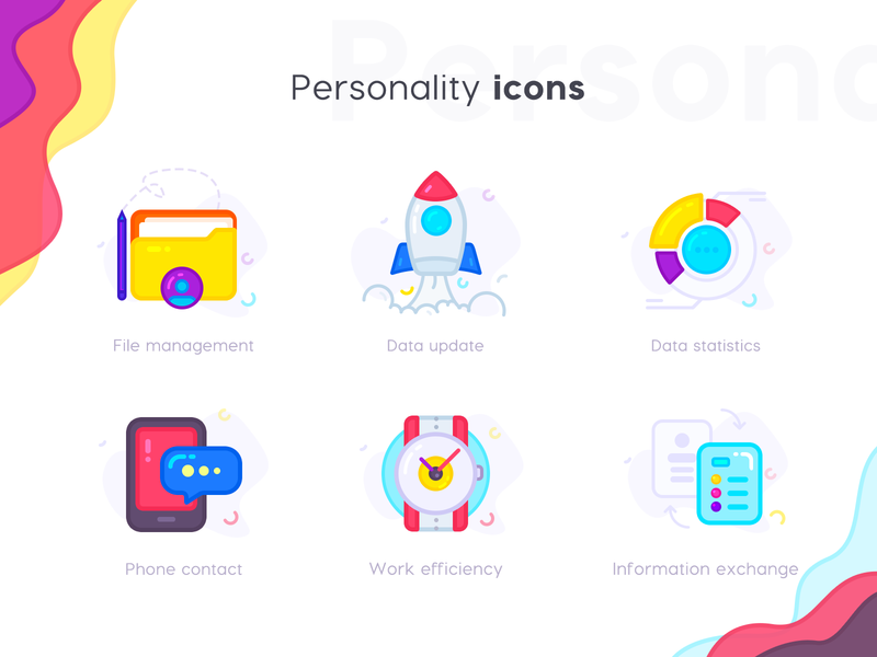 Beautiful Personality icons by J.HUA for Tunan in Icon