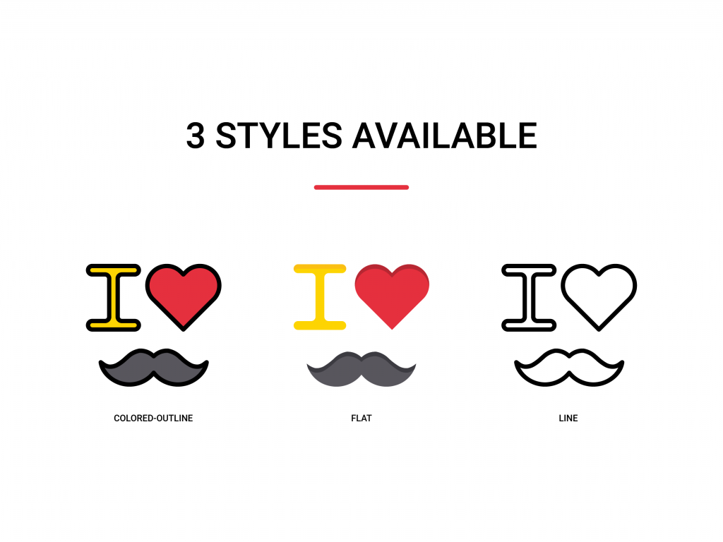 3 styles available for icons of fathers day on iconscout