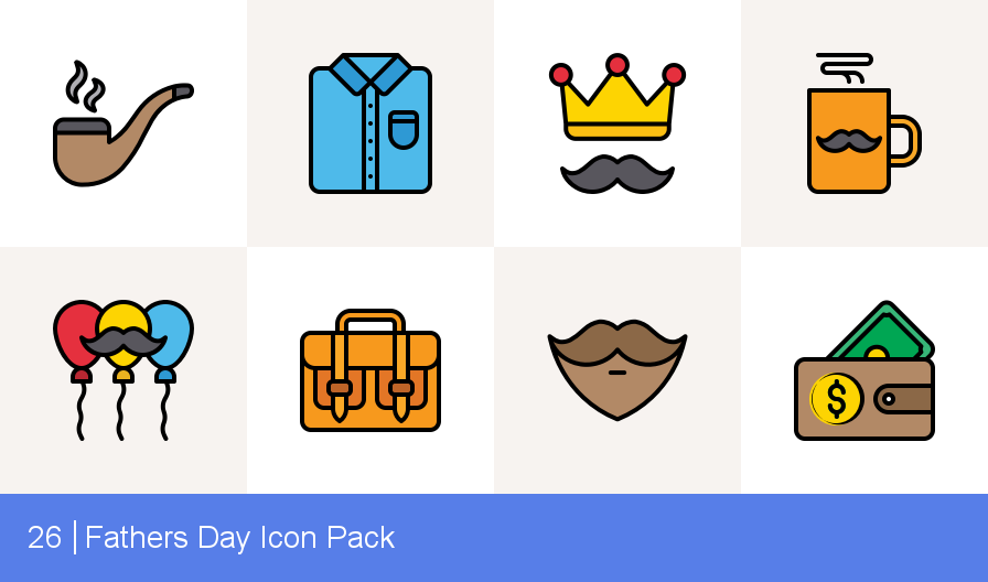 Fathers Day icon pack by  By Iconscout Freebies