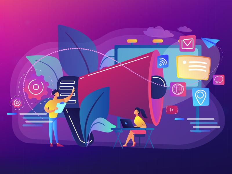 Marketing team work illustration by Visual Generation