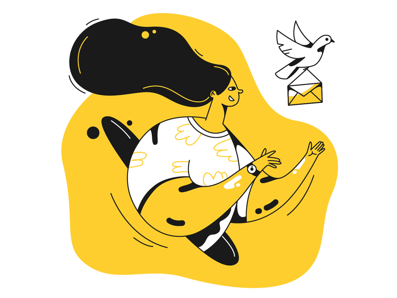 Message sent illustration by Ivan in Taxi Set