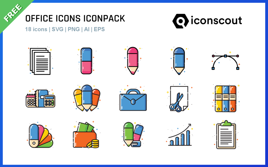 Office icons iconpack by Thalita Torres for free design assets in iconscout