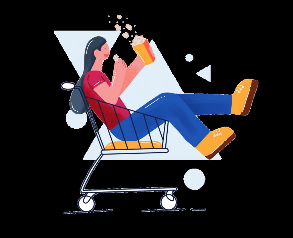 Shopping Fun illustration by Dalpat Prajapati