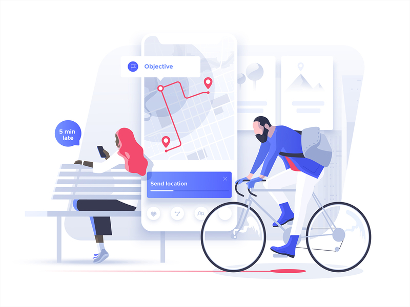Smart mobility illustration by Dmitrii Kharchenko