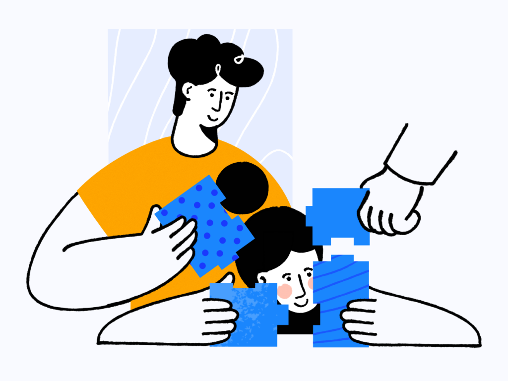 Teamwork illustration by Pawel Olek for Buddy for iconscout design inspiration blog