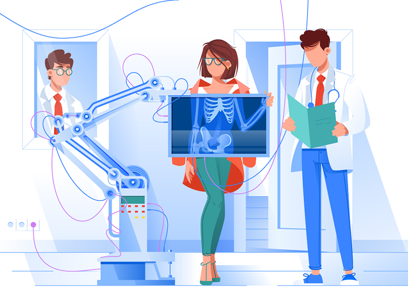 The x-ray doctor illustration by Kit8