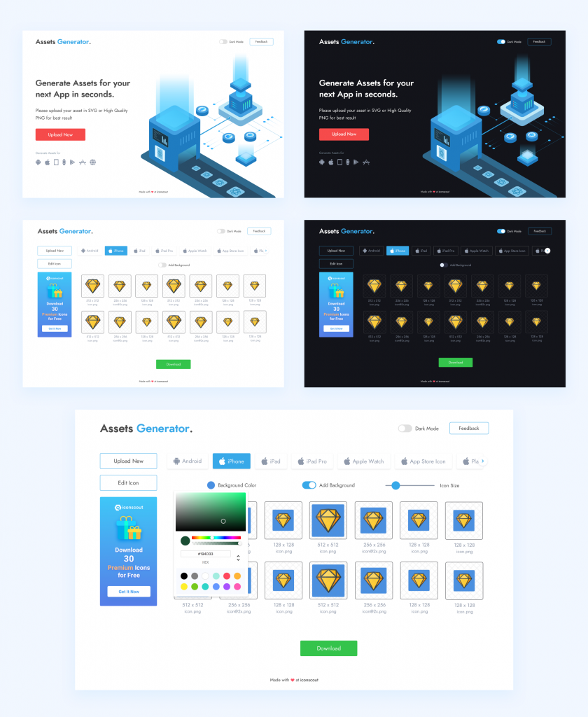 Assets Generator — Side Project: Case Study - Iconscout