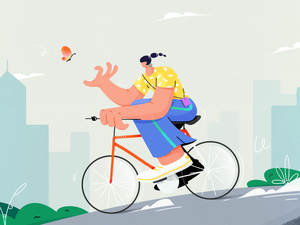 Chasing the butterfly illustration by Houng for Tunan