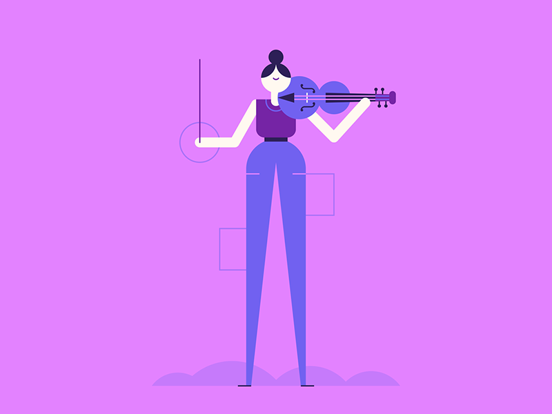 Concerto illustration by Paul O'Connor in design inspiration