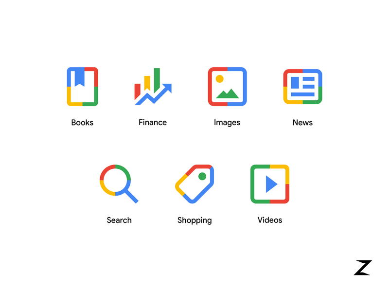 Google new search menu icons by Fabio Scarparo in design inspiration
