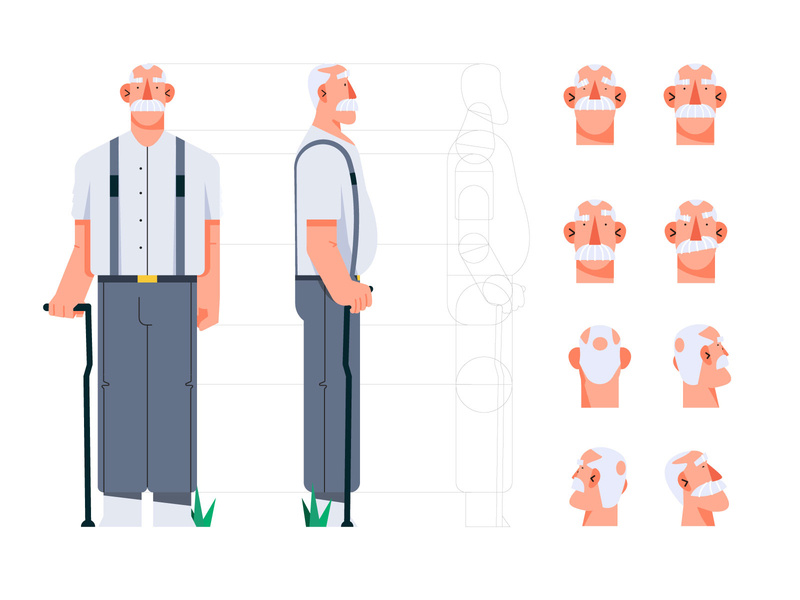 Granfather character by Artur Stotch for PRAND