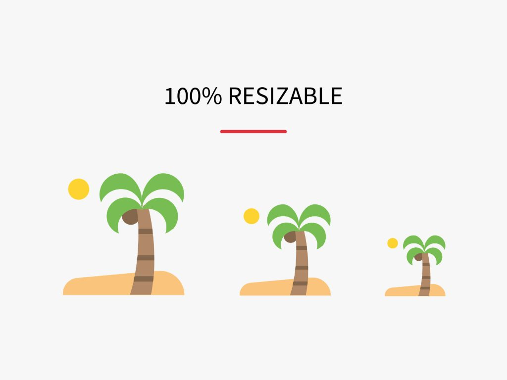 100% resizable icons by Iconscout