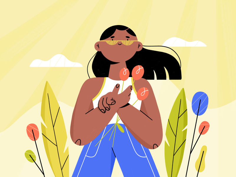 summer vibin illustration by Anya Perepelkina in design inspiration