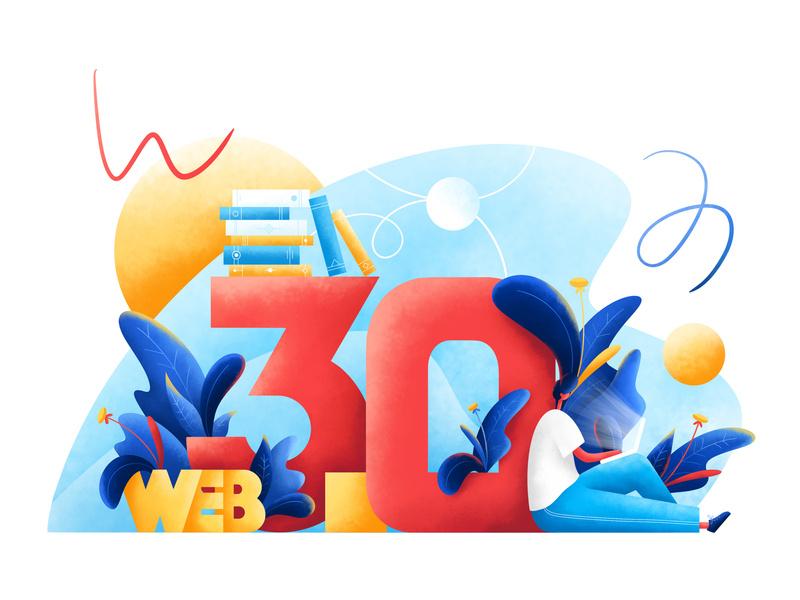 Web 3.0 illustration by Krestovskaya Anna for Orizon in design inspiration