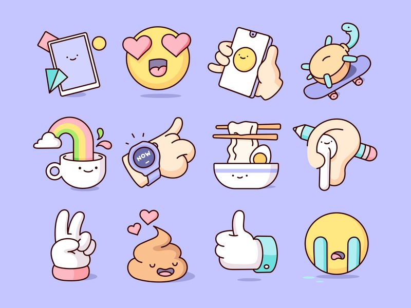Huawei icons by Burnt Toast for iconscout design inspiration