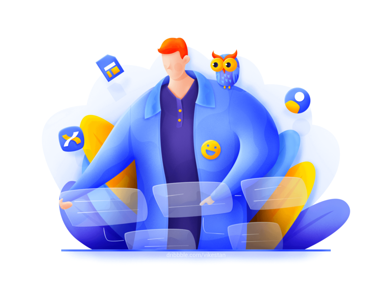 Product manager illustration by VikesTan for iconscout design inspiration