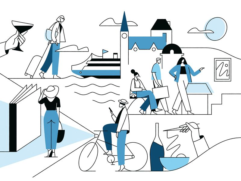 The new york times journeys iilustration by Timo Kuilder in iconscout design inspiration blog