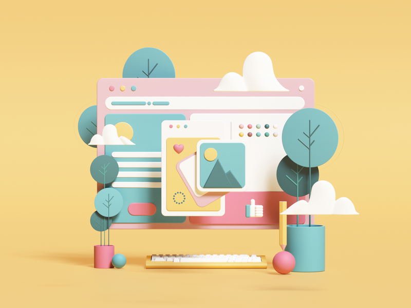 Website illustration by Giorgi Matsukatovi for iconscout design inspiration