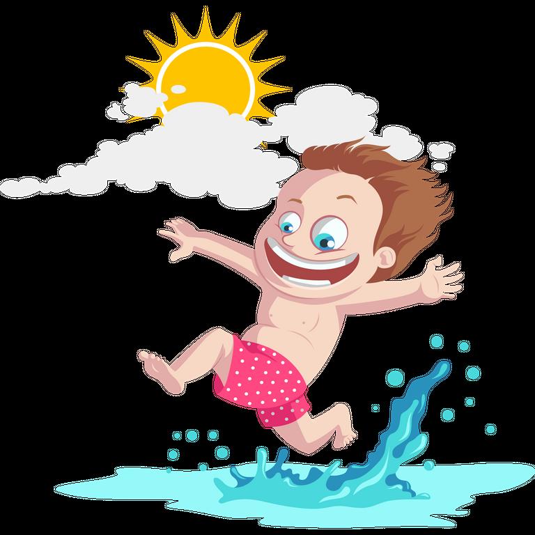 Kids summer fun illustrations