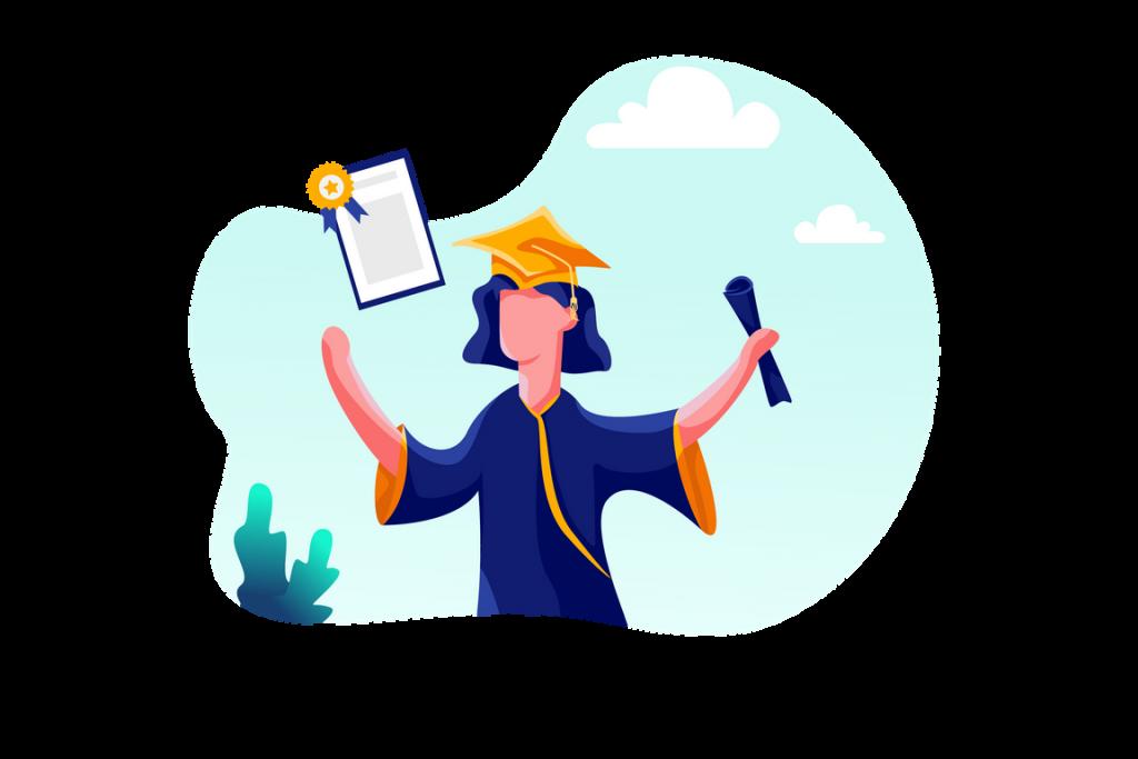 Online degree illustrations